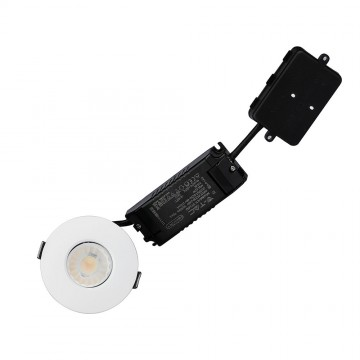 Downlight LED 10W Bluetooth Resistente al Fuego dimmable con aros cambiables IP65