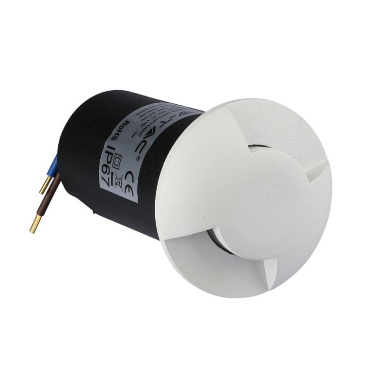 Baliza LED Escalera 1W Cuerpo Blanco 2 direcciones VT-1161CB-Iluminación Escaleras-VTAC
