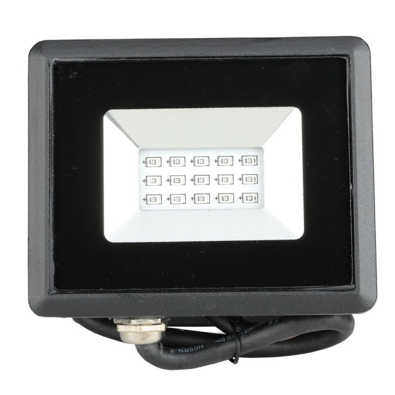 Proyector LED 10W SMD Serie E Cuerpo Negro luz azul IP65 VT-4011A-Proyectores LED-buyled.es
