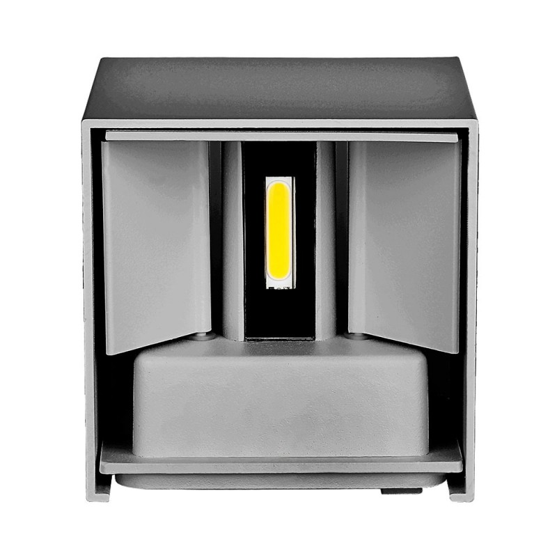 6W Lámpara de Pared LED IP65 BRIDGELUX Chip Cuerpo Gris Cuadrado