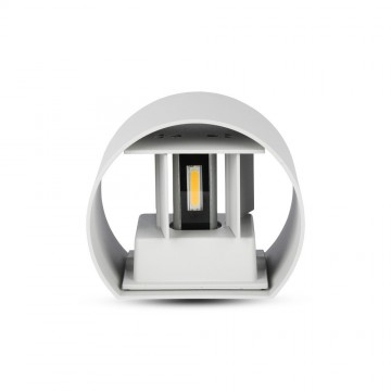6W Lámpara de Pared LED IP65 BRIDGELUX Chip Cuerpo Gris Redondo