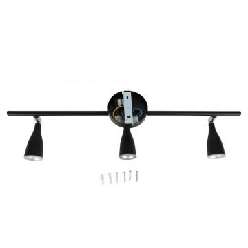 Aplique Techo LED 3 x 4.5W Cuerpo Negro