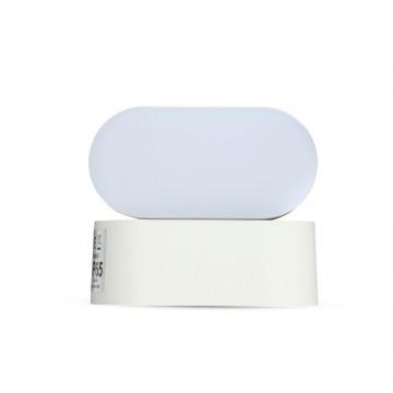 Aplique de Pared 6W LED Cuerpo Blanco IP65 Direccionable