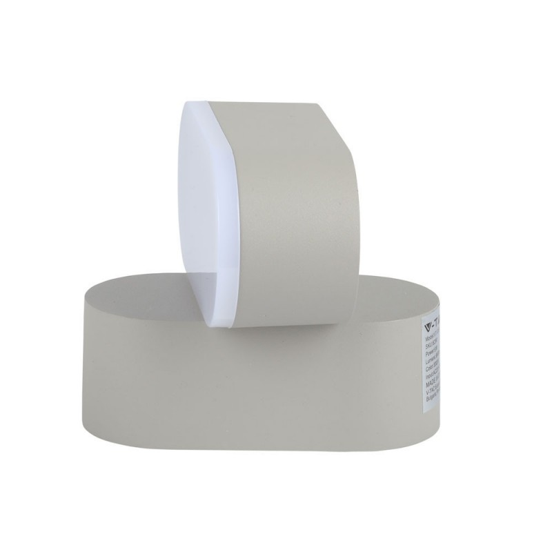 Aplique de Pared 6W LED Cuerpo Gris IP65 Direccionable VT-816G-Apliques Pared-buyled.es