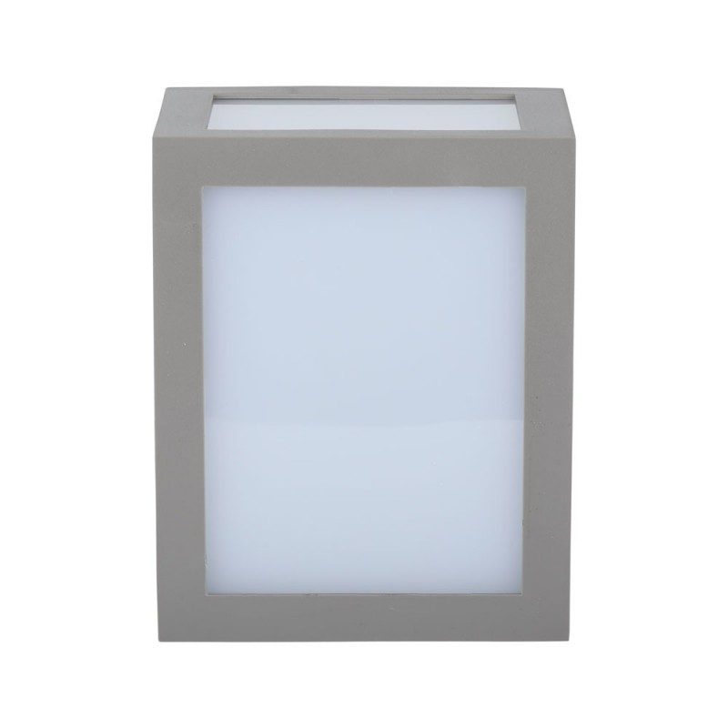 Aplique de Pared LED 12W Cuerpo Gris IP65