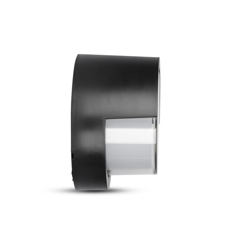 Aplique de Pared 12W LED Negro Redondo IP65 VT-827-Apliques Pared-buyled.es