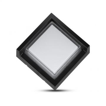 Aplique de Pared 7W LED Negro Cuadrado IP65