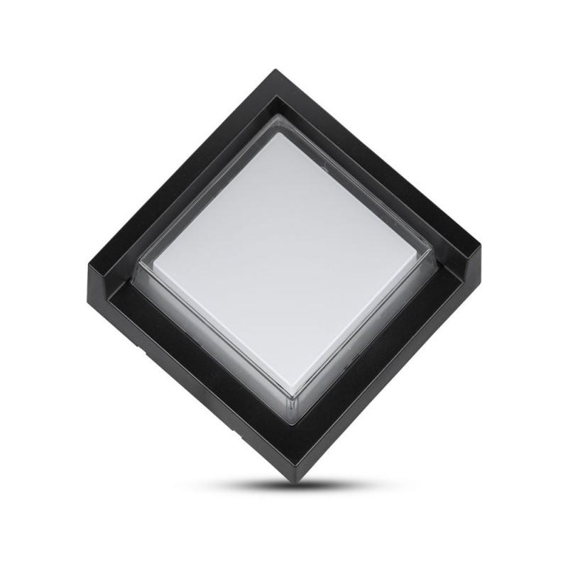 Aplique de Pared 7W LED Negro Cuadrado IP65 VT-831C-Apliques Pared-buyled.es