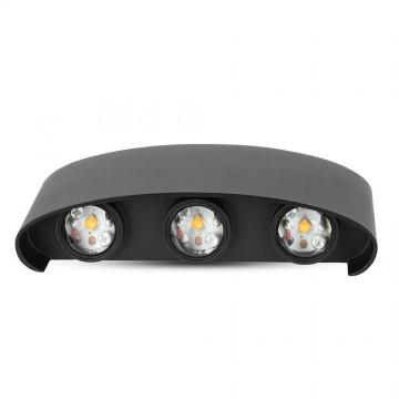 Aplique de Pared 6W LED UP-DOWN Cuerpo Negro IP54