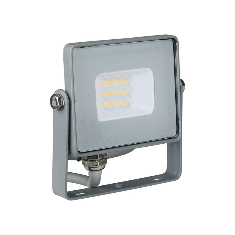 Proyector LED 10W SMD SAMSUNG Chip Cuerpo Gris VT-10-Proyectores LED-buyled.es