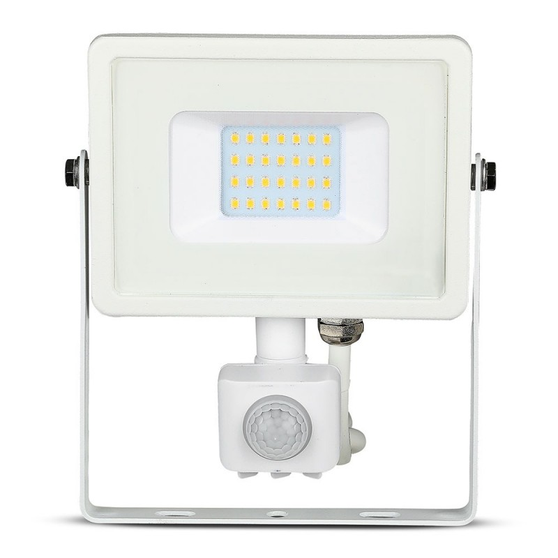 Proyector LED 20W Sensor SAMSUNG Chip Cuerpo Blanco VT-20-S-Proyectores LED-buyled.es