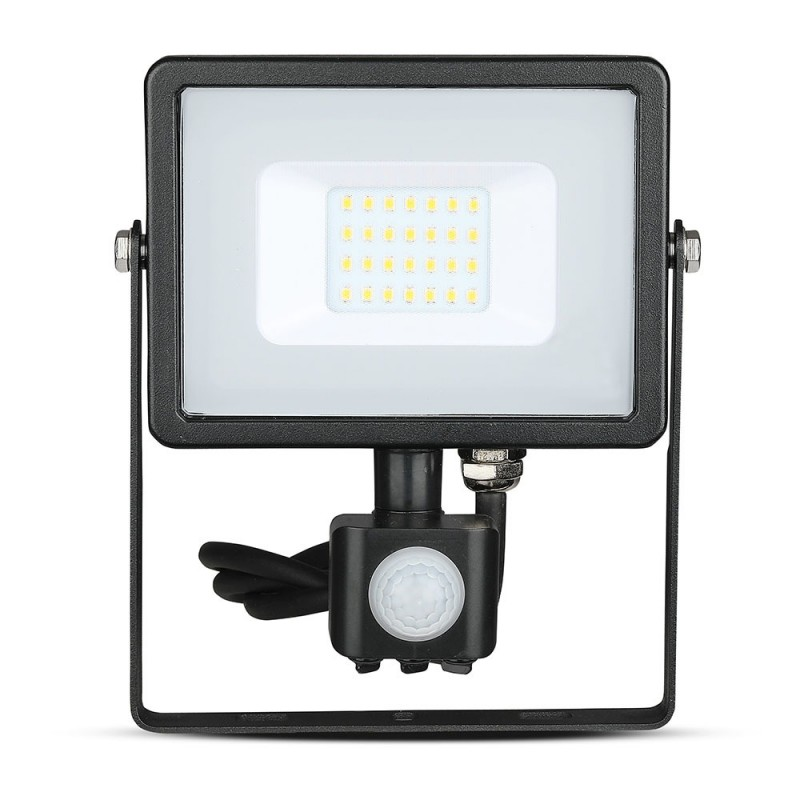 Proyector LED 20W Sensor SAMSUNG Chip Cuerpo Negro VT-20-S-Proyectores LED-buyled.es
