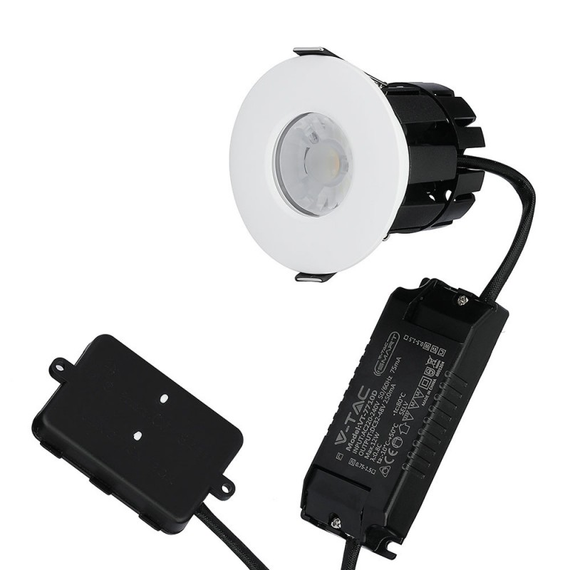 Downlight LED 10W Bluetooth Resistente al Fuego dimmable con aros cambiables IP65 VT-7710-D-Downlight LED-VTAC