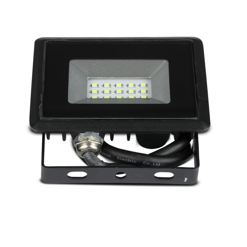 Proyector LED 10W SMD Serie E Cuerpo Negro luz verde IP65 VT-4011V-Proyectores LED-buyled.es