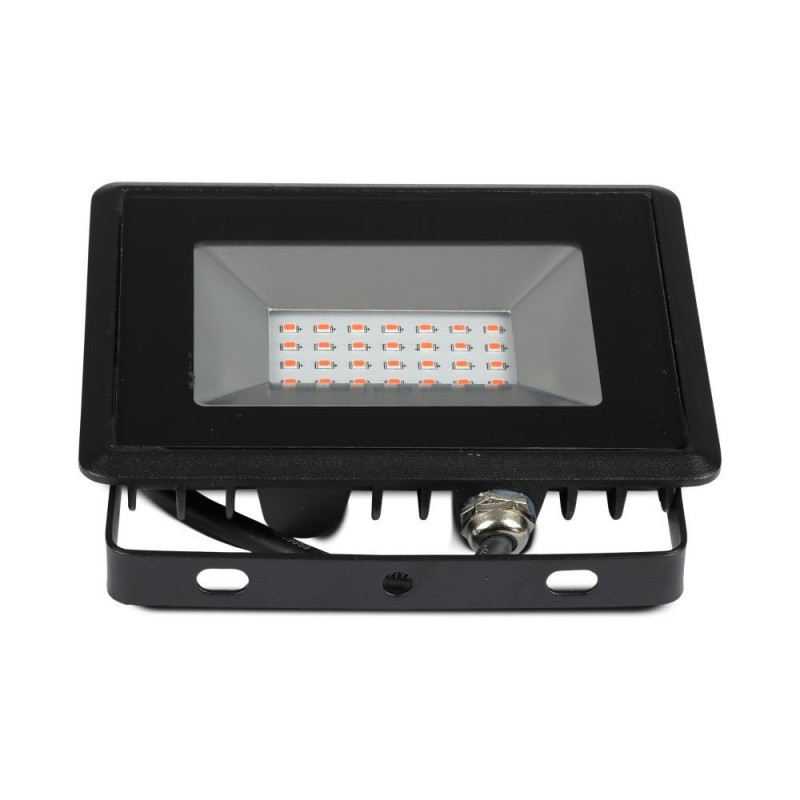 Proyector LED 20W SMD Serie E Cuerpo Negro luz roja IP66