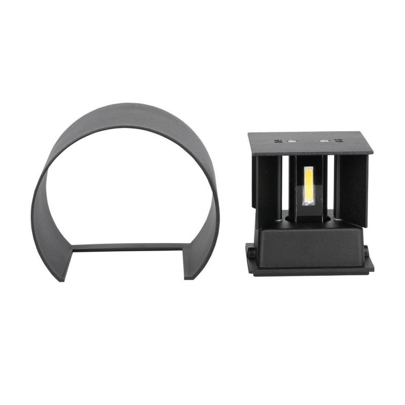 6W Lámpara de Pared LED IP65 BRIDGELUX Chip Cuerpo Negro Redondo VT-756RN-Apliques Pared-buyled.es