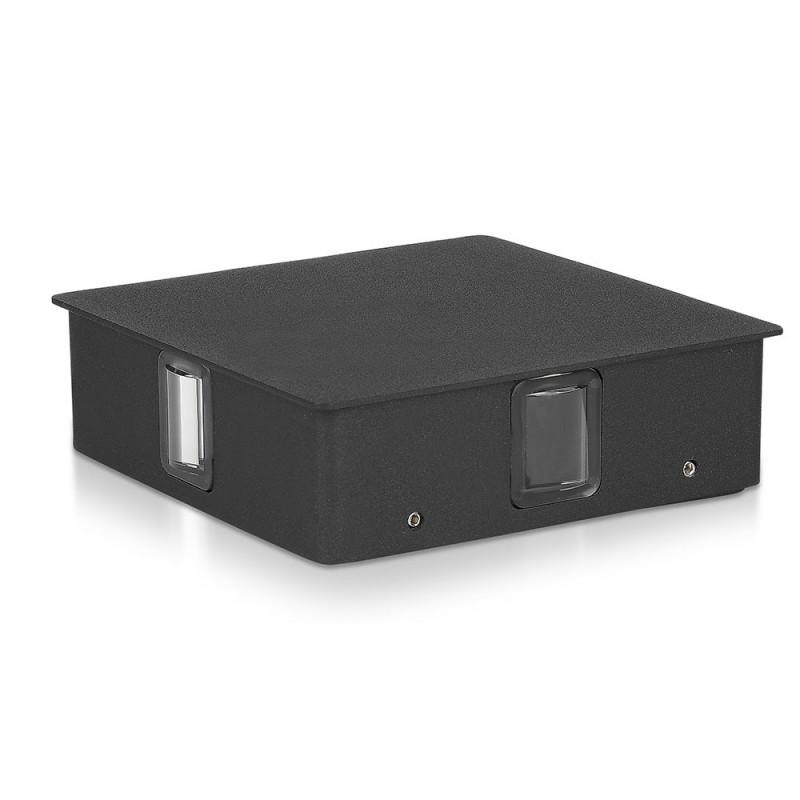 Aplique de Pared LED 4W Cuerpo Negro Cuadrado IP65 VT-704-Apliques Pared-buyled.es