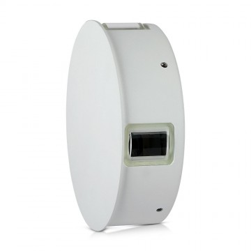 Aplique de Pared 4W Cuerpo Blanco Redondo IP65