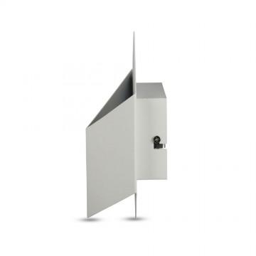 Aplique Pared Cubo 3D 3W Bridgleux Chip Cuerpo Blanco