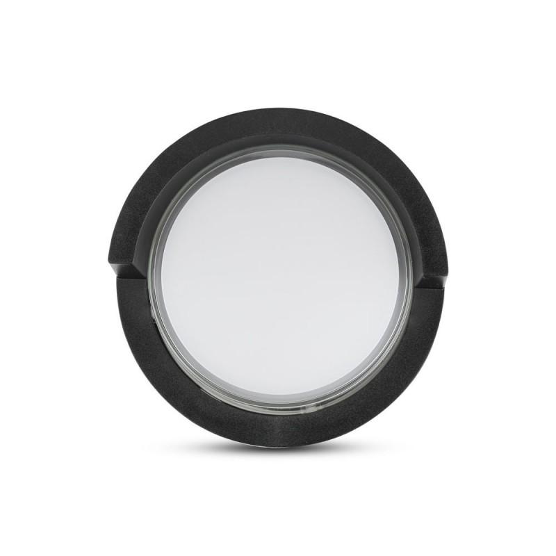 Aplique de Pared 12W LED Negro Redondo IP65
