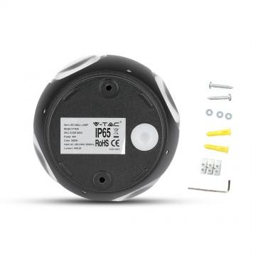 Aplique de Pared 4W LED UP-DOWN Negro Redondo IP65