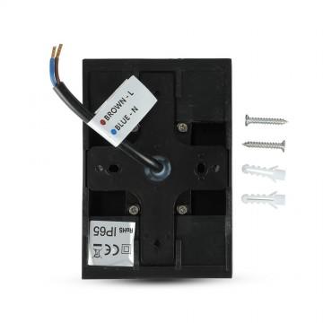 Aplique de Pared LED 4W DOWN Color Negro IP65