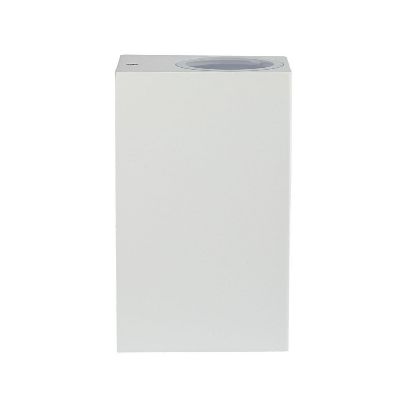 Aplique de Pared Cuerpo 2xGU10 Blanco Cuadrado IP44 VT-7652BC-Apliques Pared-buyled.es
