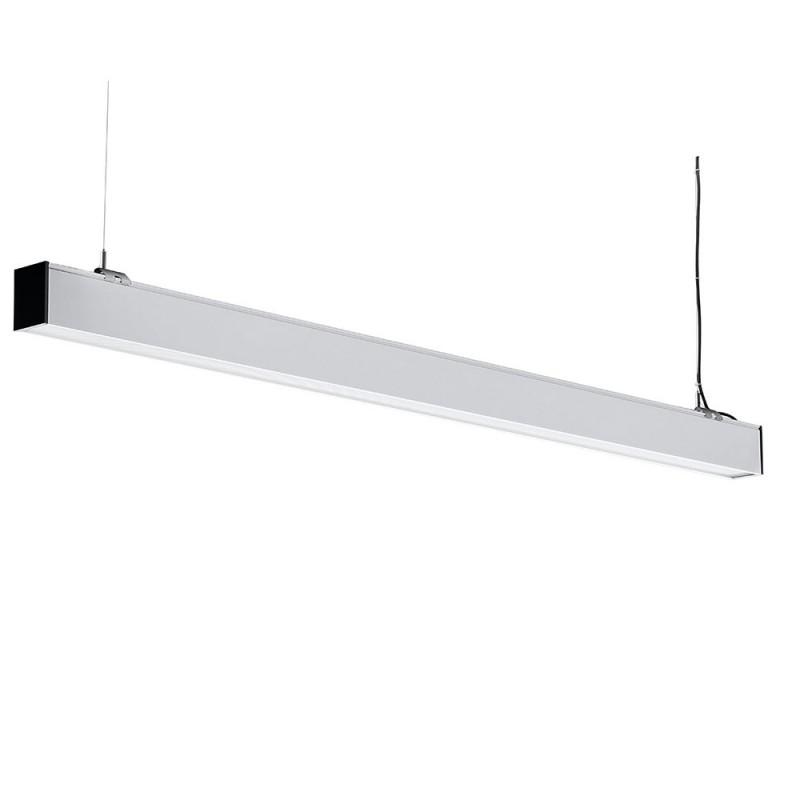 Lampara Colgante Lineal Suspendida 40W LED - SAMSUNG Chip Cuerpo Blanco VT-7-43-Iluminación Decorativa-VTAC
