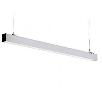 Lampara Colgante Lineal Suspendida 40W LED - SAMSUNG Chip Cuerpo Plata