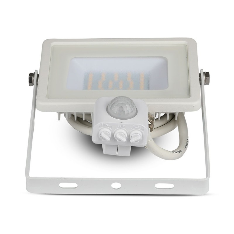Proyector LED 30W con Sensor SAMSUNG Chip Cuerpo Blanco VT-30-S-Proyectores LED-buyled.es