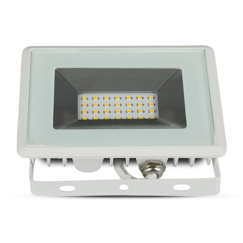 Proyector LED 20W SMD E-Series Cuerpo Blanco VT-4021-Proyectores LED-buyled.es