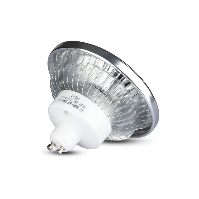 Bombilla LED AR111 12W GU10 40'D COB Chip Regulable