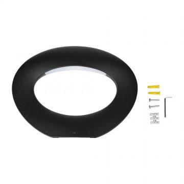 Aplique de Pared Decorativo 10W LED Cuerpo Negro IP65