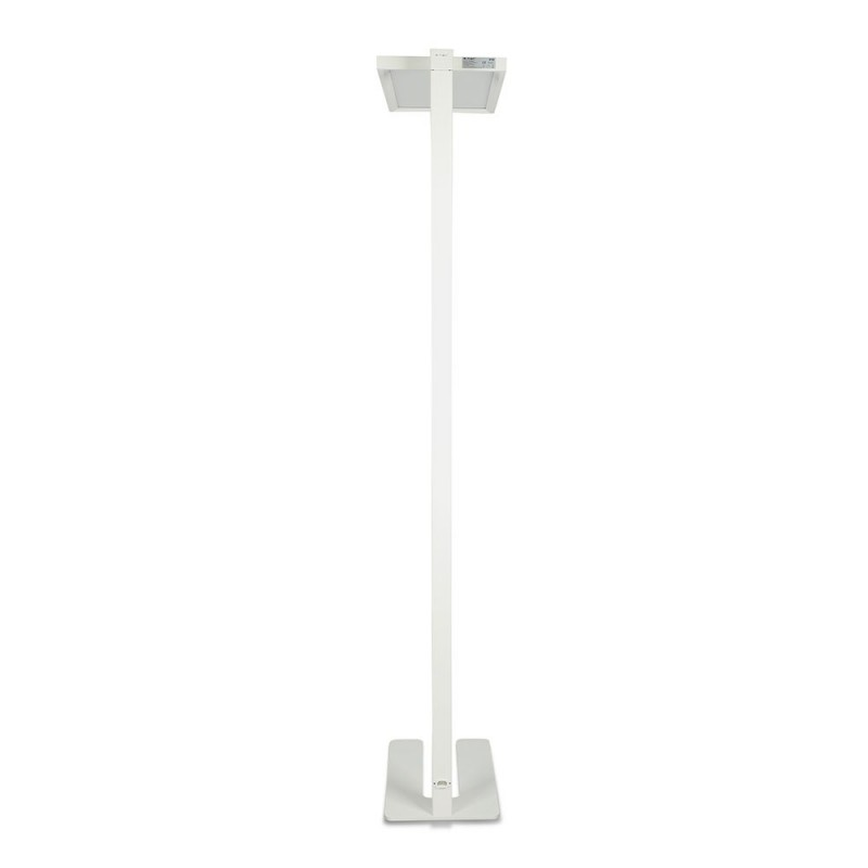 Lámpara de Pie Oficina 80W LED Dimmable Tactil Cuerpo Blanco