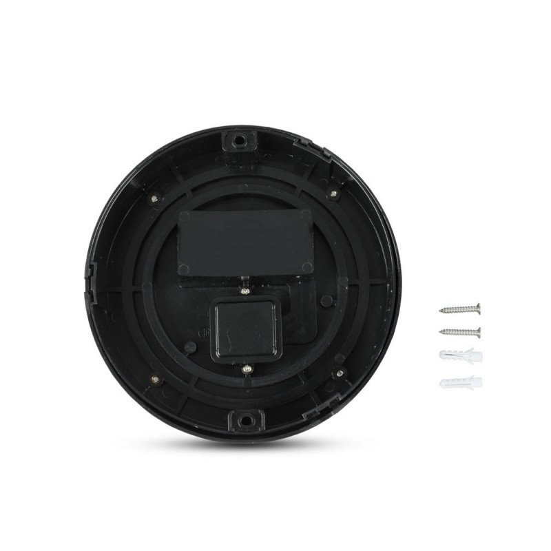 Aplique de Pared 7W LED Negro Redondo IP65
