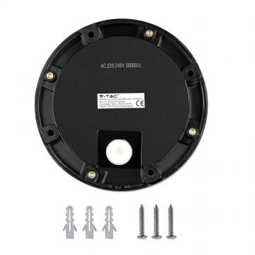 Baliza LED Escalera 2W Cuerpo Negro Redondo IP65