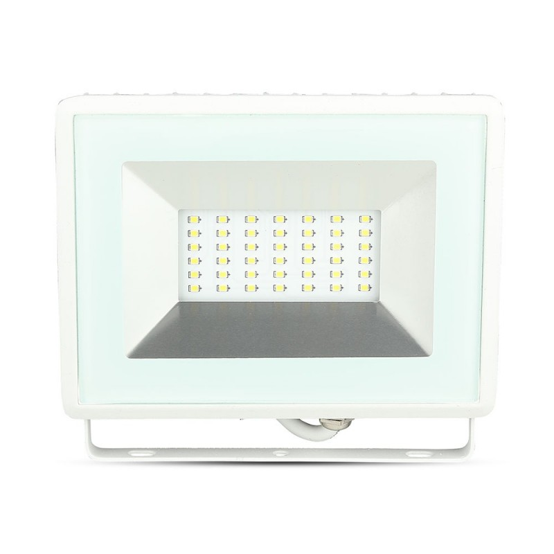Proyector LED 30W SMD E-Series Cuerpo Blanco VT-4031-Proyectores LED-buyled.es