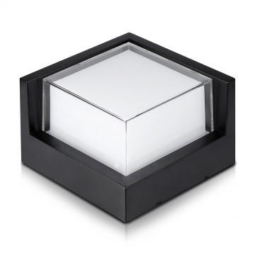Aplique de Pared 12W LED Negro Cuadrado IP65