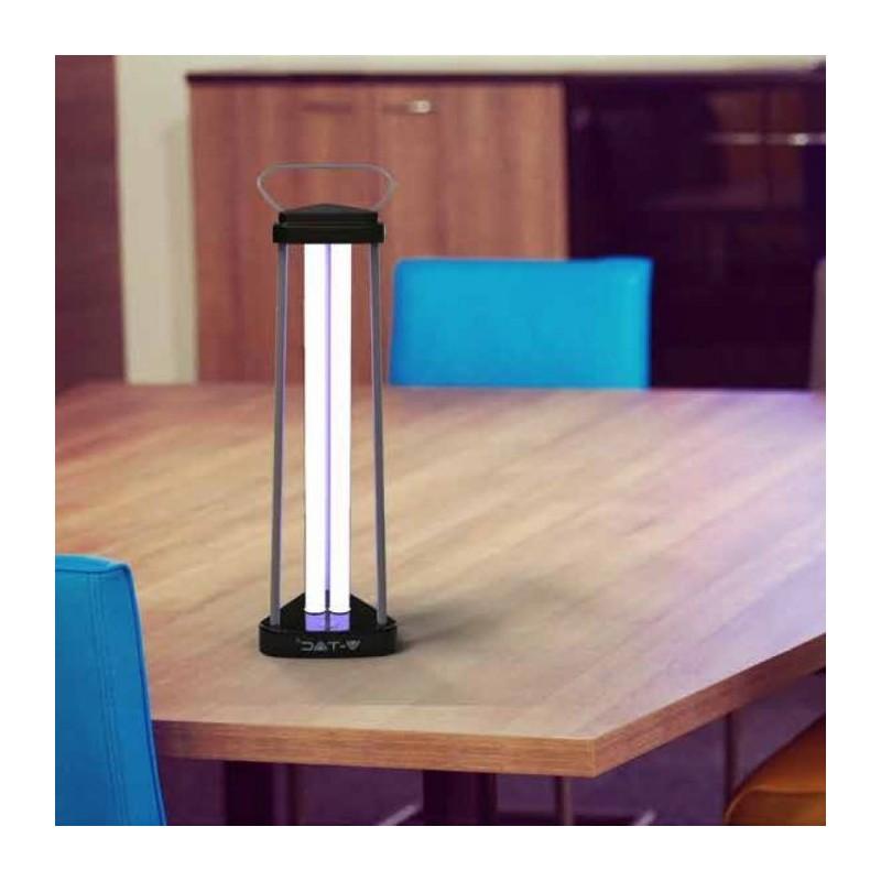 Lampara Germicida UV Ozono 38W + Sensor y Mando VT-3239-Lamparas UV Desinfección-VTAC