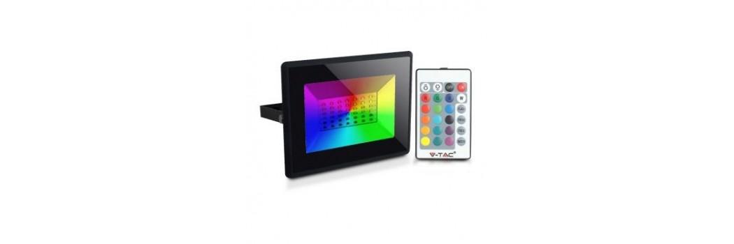 Proyectores LED RGB para Exteriores con Mando