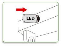 instalar fusible led