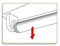 retirar tubo fluorescente